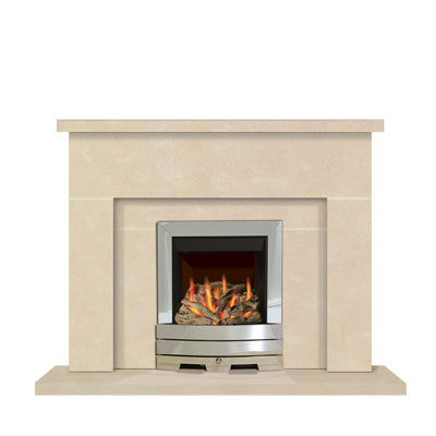 Beam - an Edwardian influenced stone fireplace by Warmsworth Stone Fireplaces