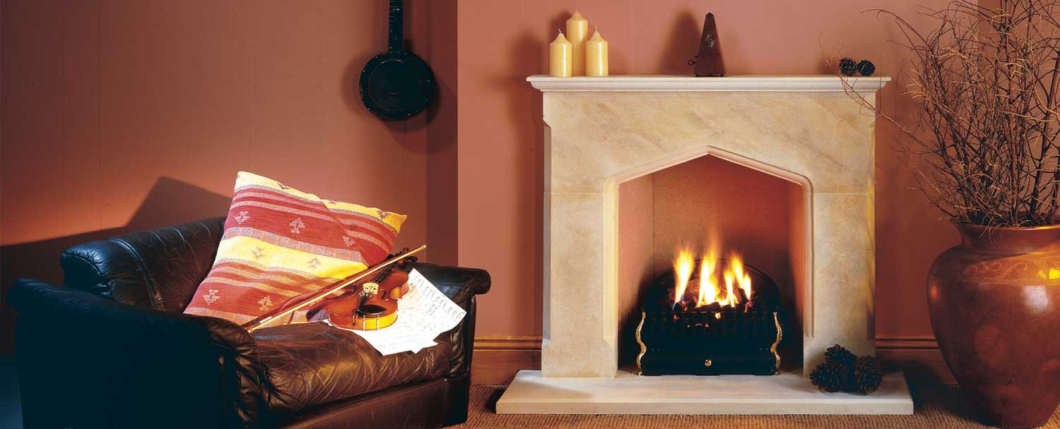 Classic Yorkshire Stone Fireplace by Warmsworth Stone, Doncaster